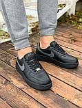Мужские кроссовки Nike Air Force  черные мех (копия), фото 9