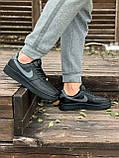 Мужские кроссовки Nike Air Force  черные мех (копия), фото 10