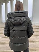 Женский пуховик цвета хакиTongcoi 7710-490, фото 4