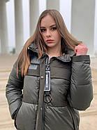 Женский пуховик цвета хакиTongcoi 7710-490, фото 3