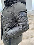 Женский пуховик цвета хакиTongcoi 7710-490, фото 8