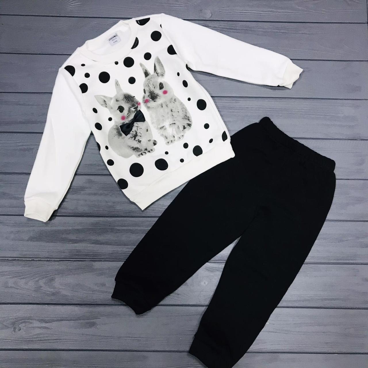 Детский костюм  тёплый на флисе для девочек оптом р.4-5-6 лет