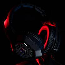 Игровые наушники ONIKUMA K10 Black черные с микрофоном и LED RGB подсветкой геймерские, фото 3