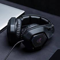 Игровые наушники ONIKUMA K10 Black черные с микрофоном и LED RGB подсветкой геймерские, фото 2