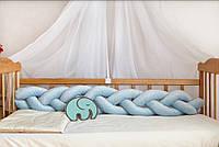 Бортик - коса  в кроватку люльку длина 120см, фото 1