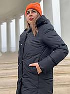 Женское зимнее  черное пальто Tongcoi 7815-701, фото 4