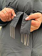 Женское зимнее  черное пальто Tongcoi 7815-701, фото 8