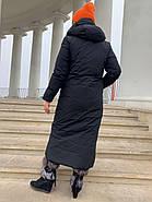 Женское зимнее  черное пальто Tongcoi 7815-701, фото 3