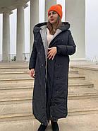 Женское зимнее  черное пальто Tongcoi 7815-701, фото 2