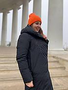 Женское зимнее  черное пальто Tongcoi 7815-701, фото 6