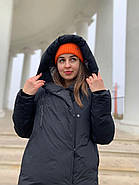 Женское зимнее  черное пальто Tongcoi 7815-701, фото 5
