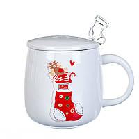 """Чашка """"Новогодний олень"""" 350 мл *рандомный выбор дизайна (8200-026), фото 1"""
