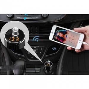 Автомобільний FM трансмітер модулятор G9 Bluetooth MP3, (Оригінал)