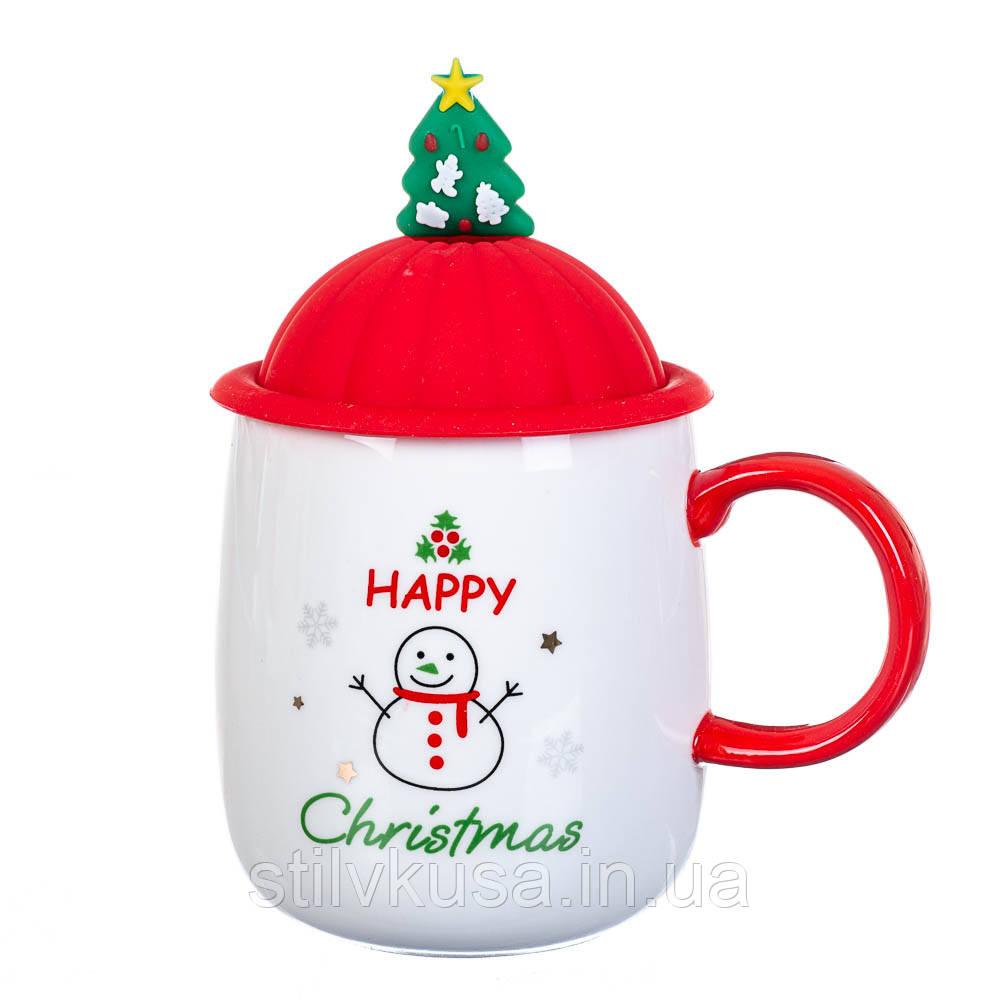 """Чашка """"Новогодняя"""" 400мл *рандомный выбор дизайна (8200-021)"""
