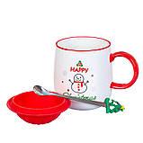 """Чашка """"Новогодняя"""" 400мл *рандомный выбор дизайна (8200-021), фото 3"""