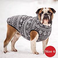Жилет для собаки утеплений DIEGO sport 6/6 череп, розмір 6