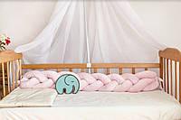 Бортик- косичка 120 см в кроватку , люльку, фото 1