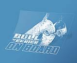 Наклейка на машину/авто Бультерьер на борту (Bull Terrier on Board), фото 2
