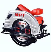 Пила циркулярная МРТ MCS 1803 PROFI, 1380 Вт, 185*20 мм, 5300 об/мин, пропил 65 мм, 45-90*, аксесс 2 шт.