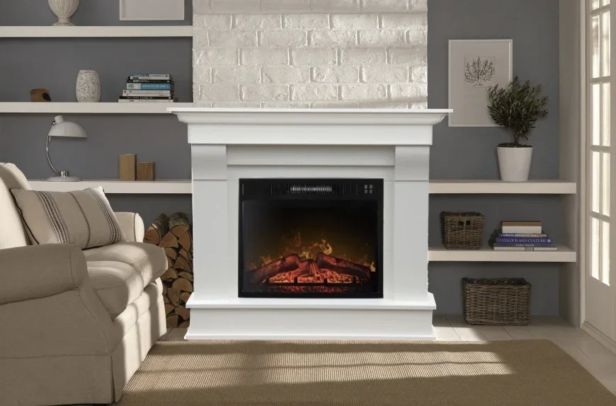 Каминокомплект ArtiFlame Albion AF 23 белый из шпонированного МДФ имитации пламени и обогрева