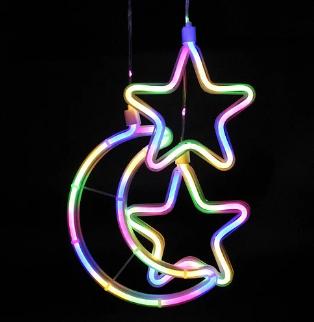 Xmas гирлянда  Copper curtain ball lamp 9M-1 Мультицветная Луна 5 Звезда 4 3M*0.7M