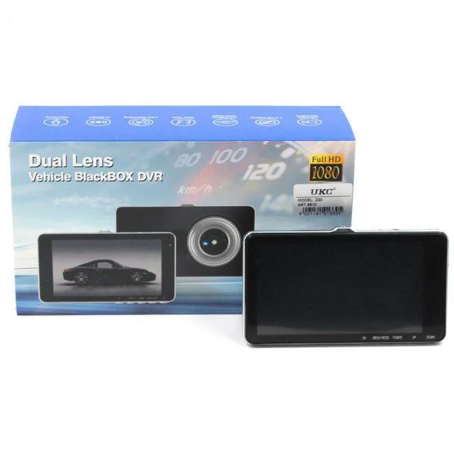 Видеорегистратор автомобильный DVR Z30 HD1080 5'' с экраном и камерой заднего вида 1920 x 1080 5 Мп