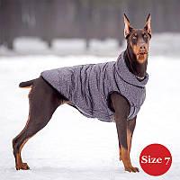 Жилет для собаки утеплений DIEGO sport 7/2 сірий, розмір 7, фото 1