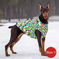 Жилет для собаки утеплений DIEGO sport 7/4 арлекін, розмір 7, фото 1