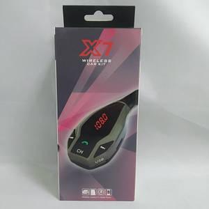 Автомобільний FM трансмітер модулятор X7 Bluetooth MP3 Чорний, (Оригінал)