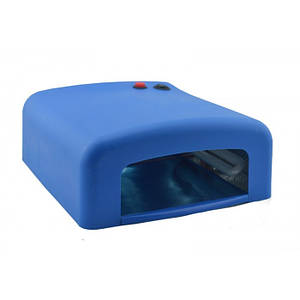 УФ лампа для нарощування нігтів на 36 Вт Синя, (Оригінал)