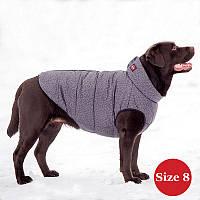 Жилет для собаки утеплений DIEGO sport 8/2 сірий, розмір 8, фото 1
