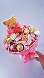 Подарочные набор для девочки Букет из конфет с мишкой и детская шкатулка БК Ш 0212, фото 2