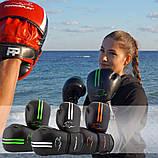 Боксерські рукавиці PowerPlay 3016 Чорно-Зелені 12 унцій, фото 9