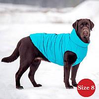Жилет для собаки утепленный DIEGO sport  8/5 голубой, размер 8, фото 1
