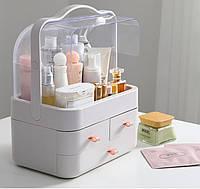 Органайзер-стойка для косметики Cosmetic Storage Box с 3 ящиками белый