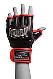 Рукавички для MMA PowerPlay 3058 Чорно-Червоні M, фото 3
