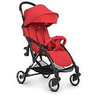 Візок дитячий ME 1058 WISH Red прогулянковий, книжка, колеса 4 шт., чохол, льон, червоний.