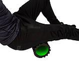 Масажний ролик PowerPlay 4025 Чорно-Зелений., фото 3