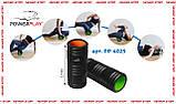 Масажний ролик PowerPlay 4025 Чорно-Зелений., фото 4