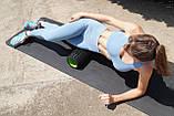 Масажний ролик PowerPlay 4025 Чорно-Зелений., фото 9
