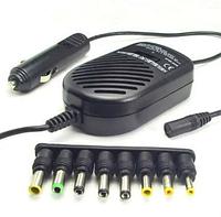 Универсальное зарядное устройство для ноутбуков On Power от прикуривателя со стабилизатором напряжения Черный