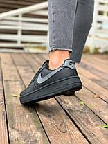 """Зимние кроссовки на меху Nike Air Force 1 """"Черные"""", фото 3"""