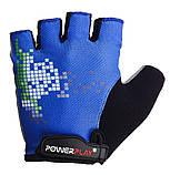 Велорукавички PowerPlay 002 D Сині L, фото 2