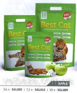 Наполнитель силикагель Best Cat Green 10л (Apple, Lawender, Flowers)