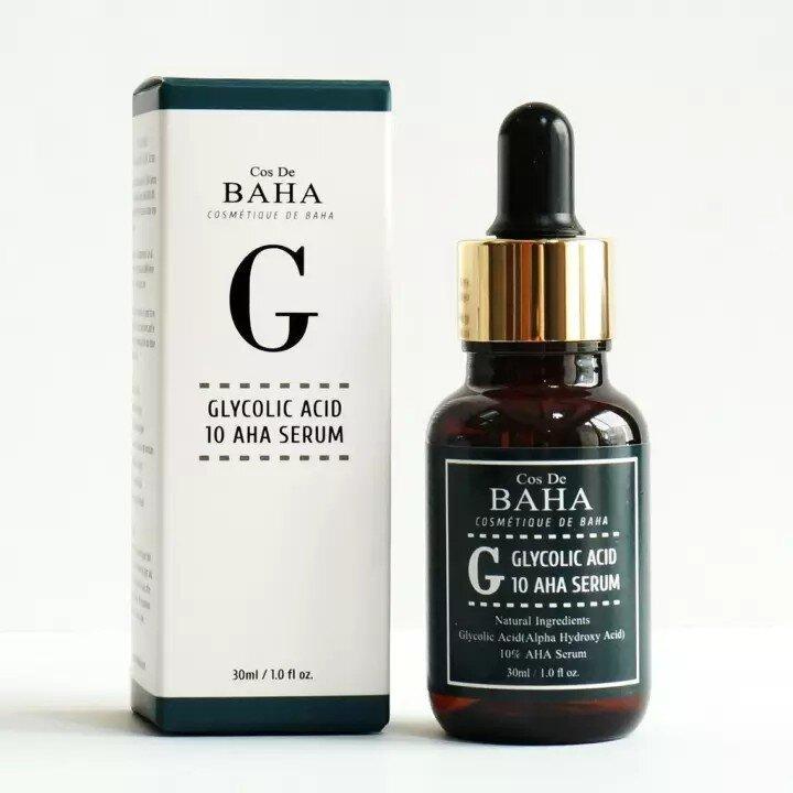 Cыворотка для проблемной кожи с гликолевой кислотой Cos De Baha Glycolic Acid 10 AHA Serum