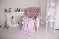 Плед детский - OTM-Design Волна, серо-розовый