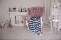 Плед детский - OTM-Design Волна, сине-голубой