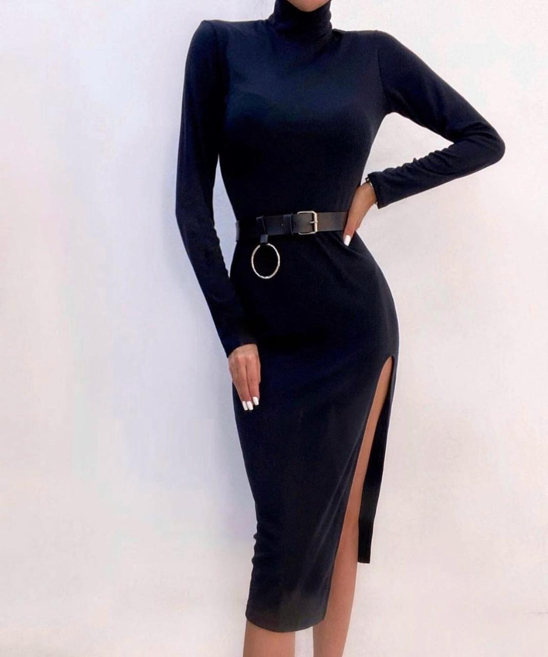 Платье с поясом мих7100