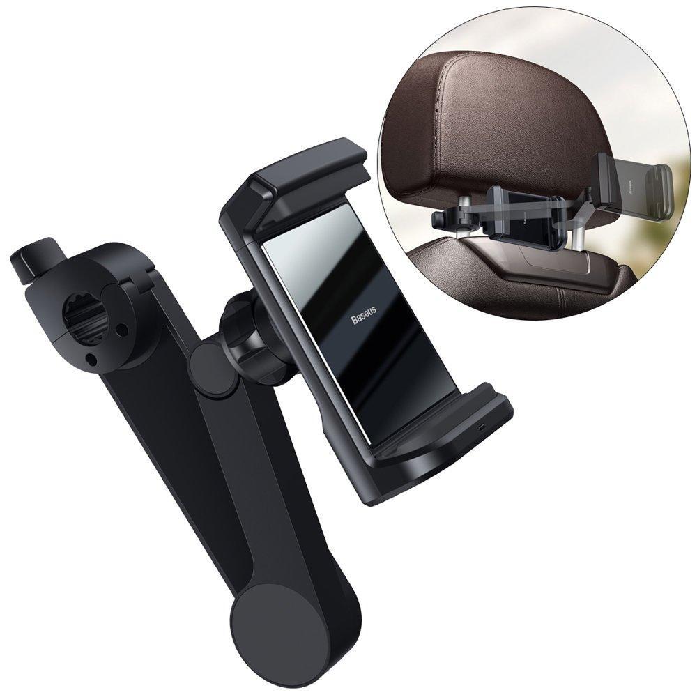 Держатель  для телефона с беспроводной зарядкой Baseus Energy Storage Backseat Holder Black (WXHZ-01)