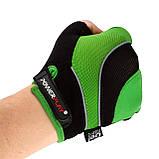 Велорукавички PowerPlay 5015 B Зелені L, фото 3